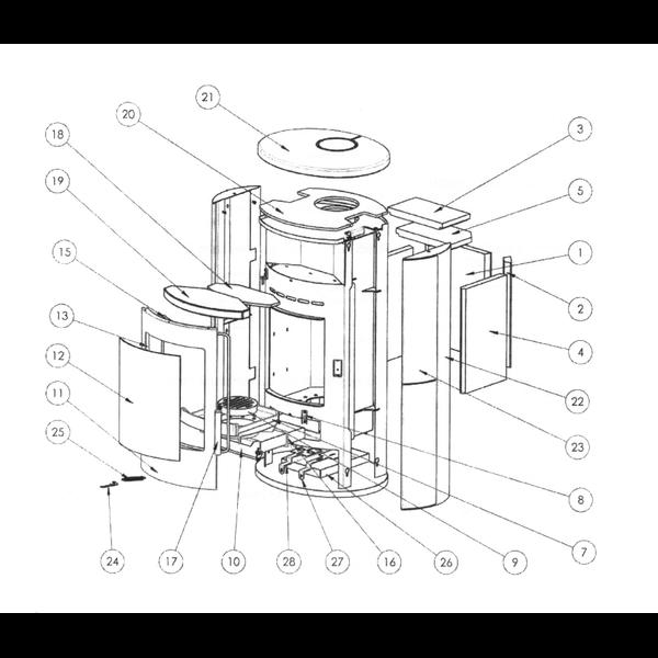 Eckstein Thermia Olympus Ersatzteil Nr.3 wird 2x ben/ötigt